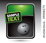 bowling ball on clean halftone...   Shutterstock .eps vector #39008275