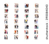 standing together together we... | Shutterstock . vector #390084040