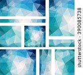 set abstract modern poligonal... | Shutterstock .eps vector #390085738
