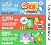 video marketing  mobile... | Shutterstock .eps vector #390087649
