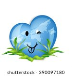 world globe in the shape of ... | Shutterstock .eps vector #390097180