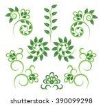 vector floral pattern | Shutterstock .eps vector #390099298