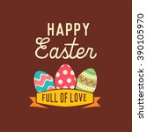 happy easter design template | Shutterstock .eps vector #390105970