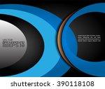 blue background curve line on... | Shutterstock .eps vector #390118108