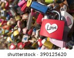 Many Love Padlocks Locked On...
