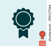 award icon. badge with ribbon...