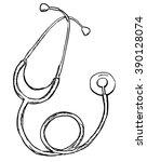 vintage style stethoscope on...   Shutterstock .eps vector #390128074