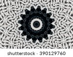 abstract design in black and... | Shutterstock . vector #390129760