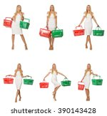 woman in shopping concept... | Shutterstock . vector #390143428