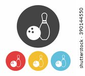 bowling icon | Shutterstock .eps vector #390144550