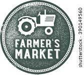 farmer's market vintage rubber... | Shutterstock .eps vector #390149560