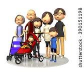 three generations family | Shutterstock . vector #390151198