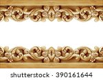 pattern of flower carved on... | Shutterstock . vector #390161644