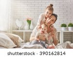 happy loving family. mother and ... | Shutterstock . vector #390162814