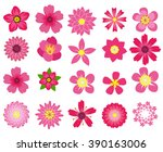 beautiful colorful flowers... | Shutterstock .eps vector #390163006