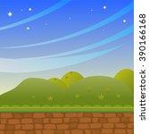 background in cartoon style.... | Shutterstock .eps vector #390166168