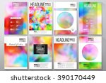 set of business templates for... | Shutterstock .eps vector #390170449