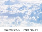 cloudscape blue sky and white... | Shutterstock . vector #390173254