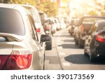 traffic jams in the city   rush ... | Shutterstock . vector #390173569