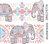vintage graphic vector indian... | Shutterstock .eps vector #390175774