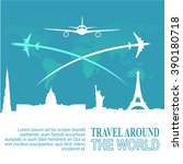 travel and tourism background | Shutterstock .eps vector #390180718