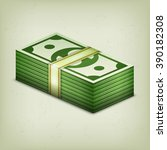 pile of money stack  cash...   Shutterstock .eps vector #390182308