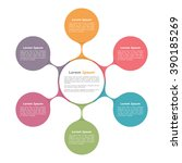 circle diagram with six... | Shutterstock .eps vector #390185269