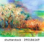 Abstract Colorful Landscape...