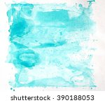 abstract blue watercolor hand... | Shutterstock . vector #390188053