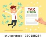 tax return. vector flat...