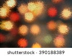 the lights of various colors.... | Shutterstock . vector #390188389