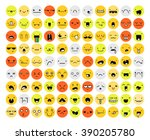 great set 99 color emotion... | Shutterstock .eps vector #390205780