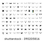 set of 99 different pieces of... | Shutterstock .eps vector #390205816