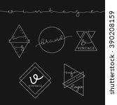 5 set label for business. label ... | Shutterstock .eps vector #390208159
