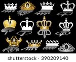 illustration with crown... | Shutterstock .eps vector #390209140