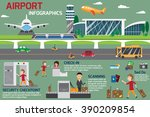 airport business infographics... | Shutterstock .eps vector #390209854