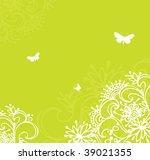 summer flower back  vector... | Shutterstock .eps vector #39021355