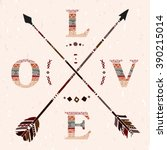 Crossed Arrows Love Boho Apach...