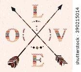 Crossed Arrows Love Boho Apach...