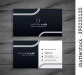 dark business card   Shutterstock .eps vector #390220120