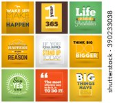 set of inspirational and... | Shutterstock .eps vector #390233038