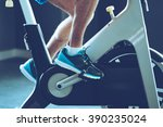 intense cardio workout. side... | Shutterstock . vector #390235024