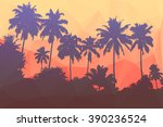 vector floral tropical... | Shutterstock .eps vector #390236524