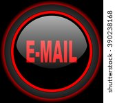 email black and red glossy... | Shutterstock . vector #390238168