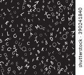 random letters seamless pattern.... | Shutterstock .eps vector #390241840