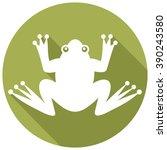 frog flat icon  | Shutterstock .eps vector #390243580