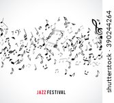 abstract musical frame and... | Shutterstock .eps vector #390244264