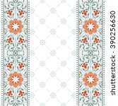 invitation card with floral... | Shutterstock .eps vector #390256630