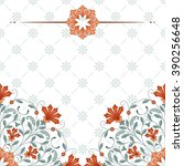 invitation card with floral... | Shutterstock .eps vector #390256648