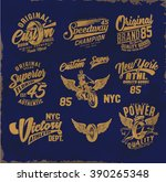 vintage college print design    ... | Shutterstock .eps vector #390265348